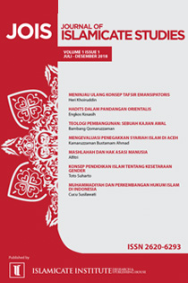 View Vol. 1 No. 1 (2018): Journal of Islamicate Studies